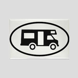 RV Oval Sticker Rectangle Magnet
