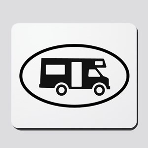 RV Oval Sticker Mousepad
