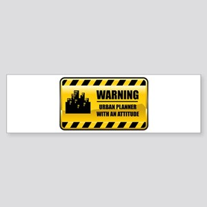 Warning Urban Planner Bumper Sticker