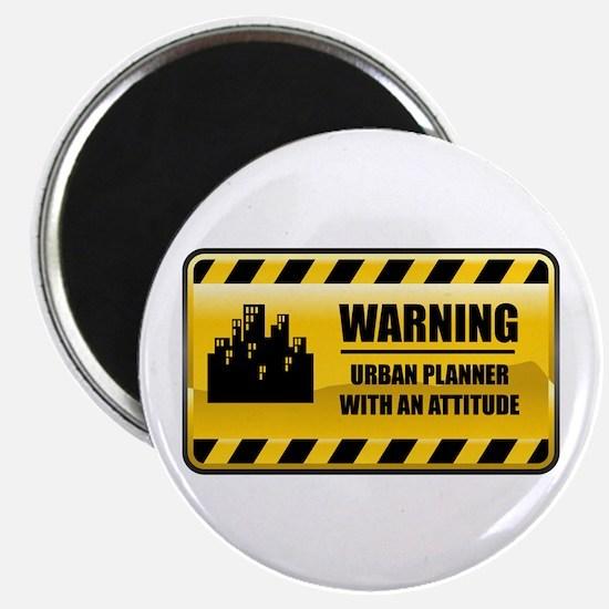 Warning Urban Planner Magnet