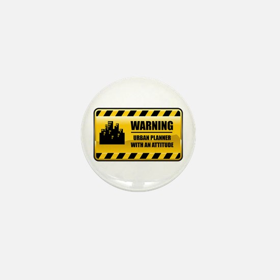 Warning Urban Planner Mini Button