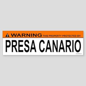 PRESA CANARIO Bumper Sticker