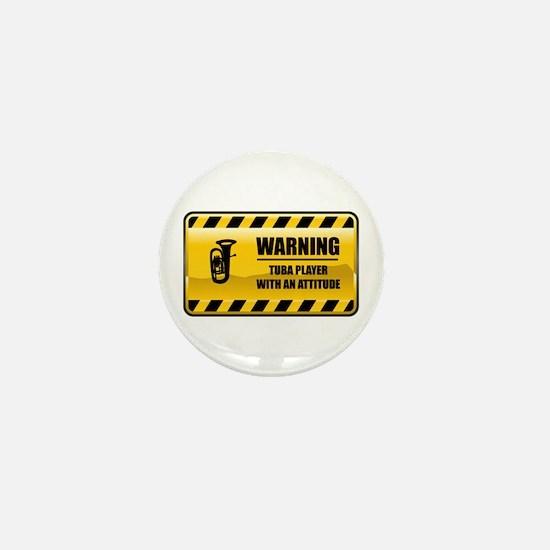 Warning Tuba Player Mini Button