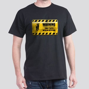 Warning Tuba Player Dark T-Shirt