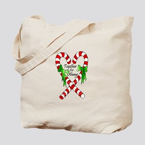Together for Always Christmas Tote Bag