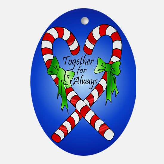 Together for Always Christmas Oval Ornament