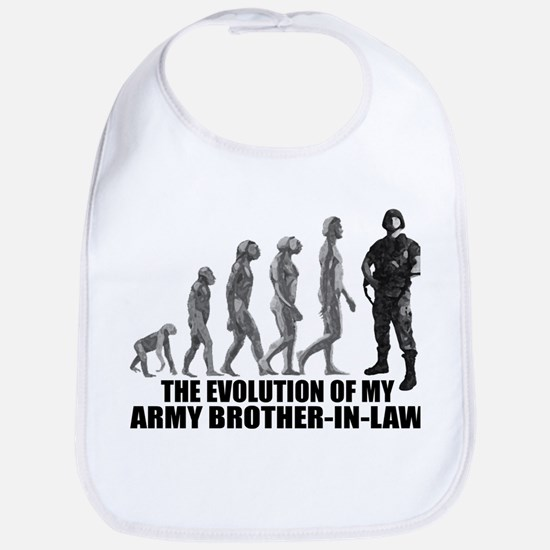 Evolution - My Army Bro-n-Law Bib