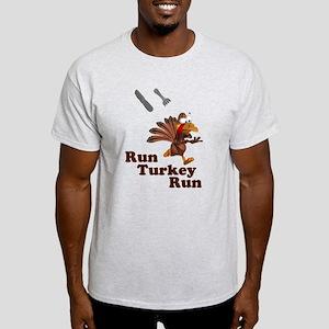 Run Turkey Run Thanksgiving Light T-Shirt