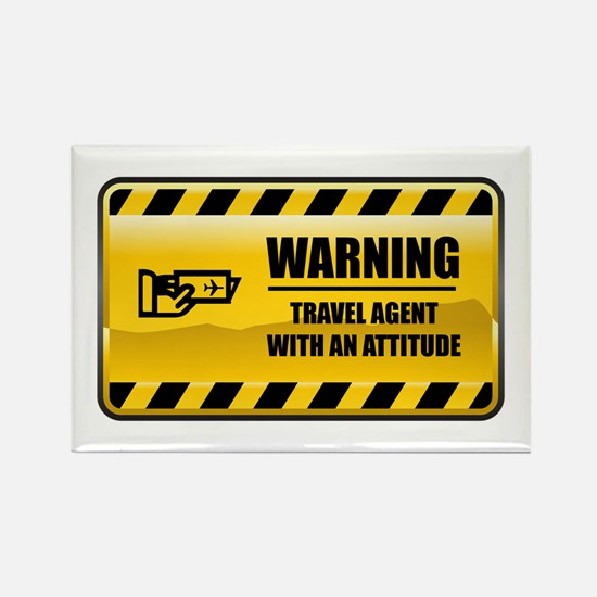 Warning Travel Agent Rectangle Magnet
