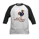 It's Gravy Baby Yeah Thanksgiving Kids Baseball Je