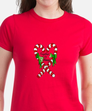 Together for Always Christmas Women's Dark T-Shirt