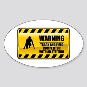 Warning Track and Field Competitor Oval Sticker