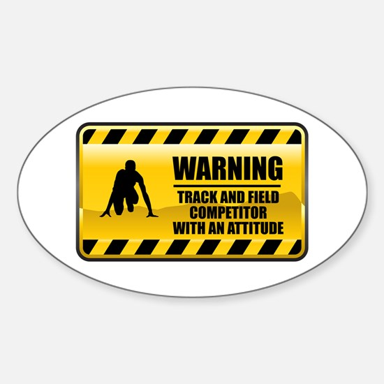 Warning Track and Field Competitor Oval Decal