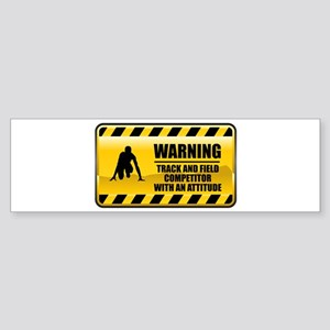 Warning Track and Field Competitor Sticker (Bumper