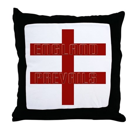 England prevails Throw Pillow