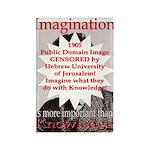 Einstein & Imagination Rectangle Magnet