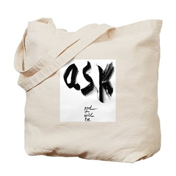 'Ask' & 'Yes' Tote Bag