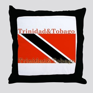 Trinidad & Tobago Flag Throw Pillow