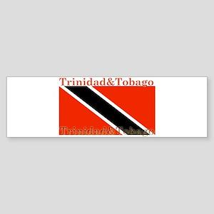 Trinidad & Tobago Flag Bumper Sticker