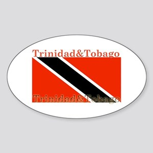Trinidad & Tobago Flag Oval Sticker