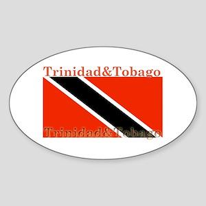 Trinidad & Tobago Flag Oval Sticker
