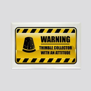 Warning Thimble Collector Rectangle Magnet