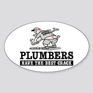 PLUMBERS CRACK Oval Sticker
