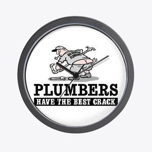 PLUMBERS CRACK Wall Clock