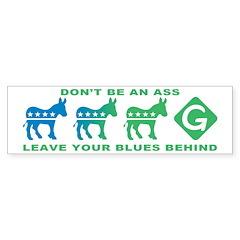 Democrats Voting Green Bumper Bumper Sticker