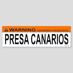 PRESA CANARIOS Bumper Sticker