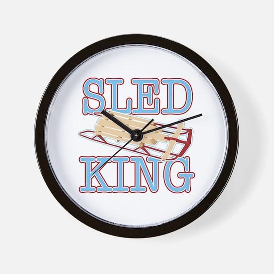 Sled King Wall Clock