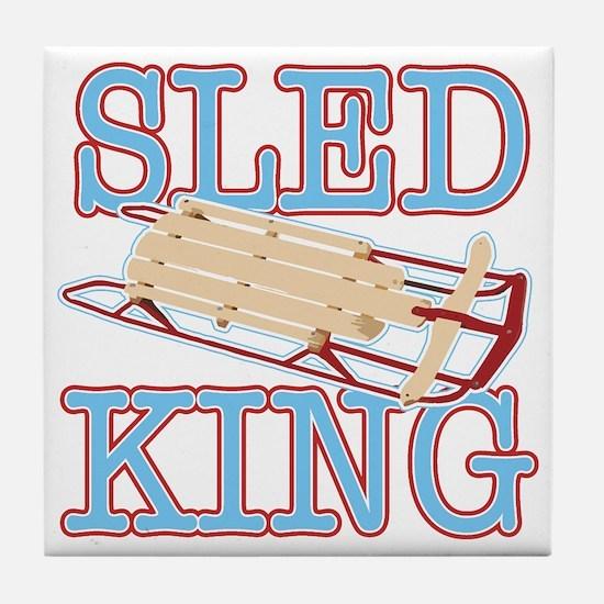 Sled King Tile Coaster