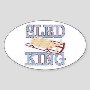 Sled King Oval Sticker