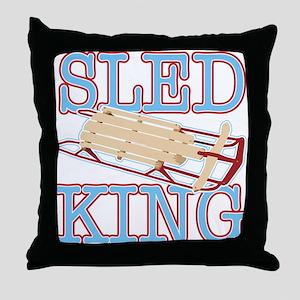 Sled King Throw Pillow