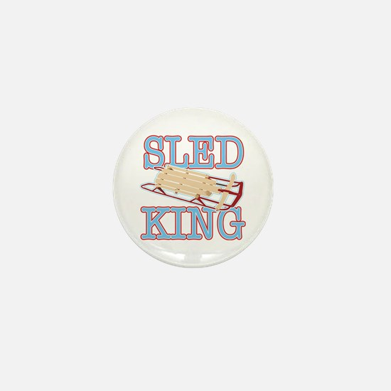Sled King Mini Button