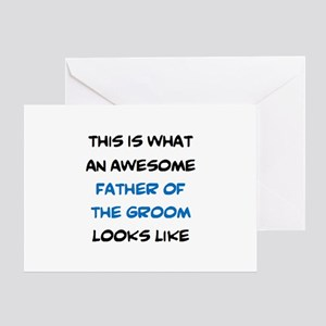 awesome father of the groom Greeting Card