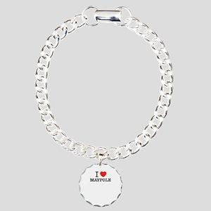I Love MAYPOLE Charm Bracelet, One Charm