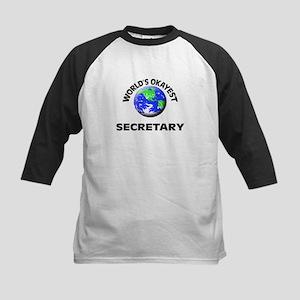 World's Okayest Secretary Baseball Jersey