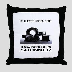 Scanner Throw Pillow