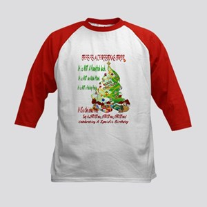 This Is A Christmas Tree Kids Baseball Jersey