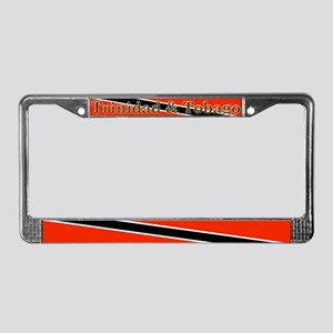 Trinidad Tobago Blank Flag License Plate Frame
