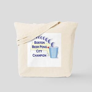 Boston Beer Pong City Champio Tote Bag