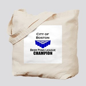 City of Boston Beer Pong Leag Tote Bag