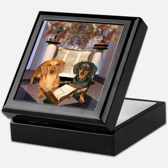 Jewish Dachshunds Keepsake Box