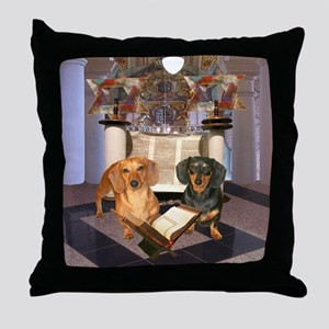 Jewish Dachshunds Throw Pillow