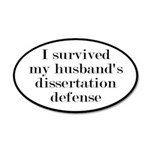 My Husband's Dissertation De 20x12 Oval Wall Decal