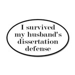My Husband's Dissertation De 35x21 Oval Wall Decal