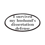 My Husband's Dissertation Defense Patch