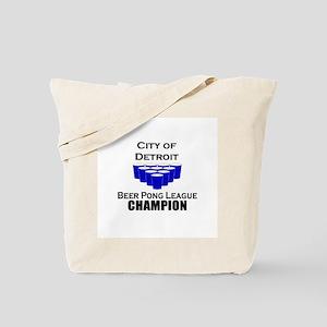 City of Detroit Beer Pong Lea Tote Bag