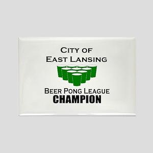 City of East Lansing Beer Pon Rectangle Magnet